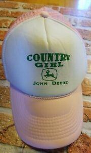 Pink Country Girl John Deere Trucker Cap Mesh Back Baseball Hat Snap Back *CUTE*