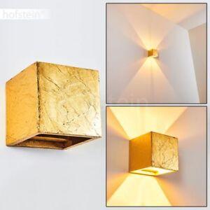 Up Down Strahler Design Wohn Schlaf Zimmer goldfarben Wand Leuchten Flur Lampen