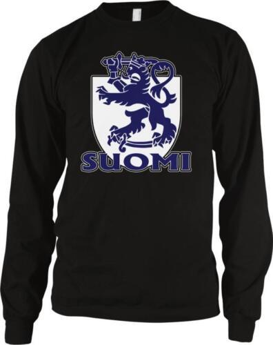 Suomi Coat of Arms Finland Finnish Pride Tasavalta Lippu Long Sleeve Thermal