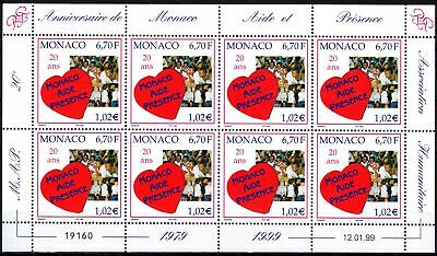 """Klbg Trendmarkierung Monaco Minr 2442 ** 20 Jahre Hilfsorganisation """"monaco Aide Et Présence"""" GüNstigster Preis Von Unserer Website"""