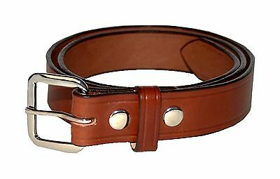 "BROWN 10 OZ LEATHER- BLACK 1 1//2/"" WIDE AMISH HAND MADE DRESS BELTS 32/"" 60/"""