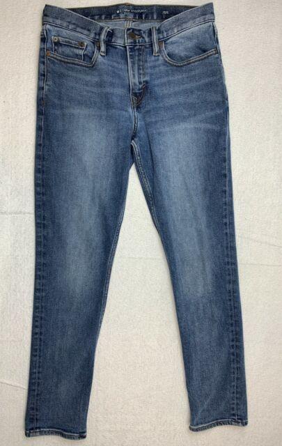 Banana Republic Mens 30x30 Slim Fit Straight Leg Jeans Blue Denim Stretch Pants