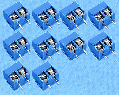 10pcs KF301-2P 5.08mm Blue Connector Terminal Blue Screw Terminal Connector 2P