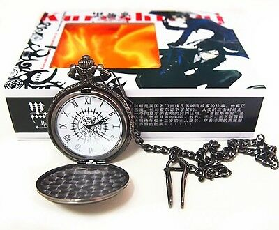 Free Shipping Anime Black Butler Kuroshitsuji Cosplay Pocket Watch New in Box