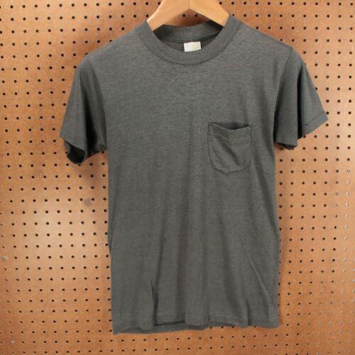 vtg 70s 80s usa SNEAKERS single stitch blank pocke