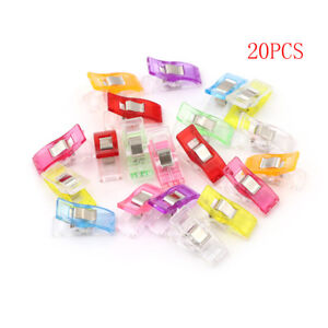 20PCs-Plastic-Clip-Clamps-For-Patchwork-Sewing-Quilt-Clip-Tools-Food-Bag-CliHFTS