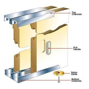slik sliding cupboard cabinet door gear track kit system 1219mm. Black Bedroom Furniture Sets. Home Design Ideas