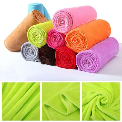 50*70CM Super Soft Solid Warm Micro Plush Fleece Blanket Throw Rug Sofa Bed Wed