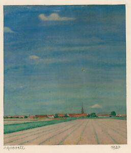 Pietschmann-Karl-1897-Greifswald-1938-Pommersche-Landschaft-Aquarell-1927