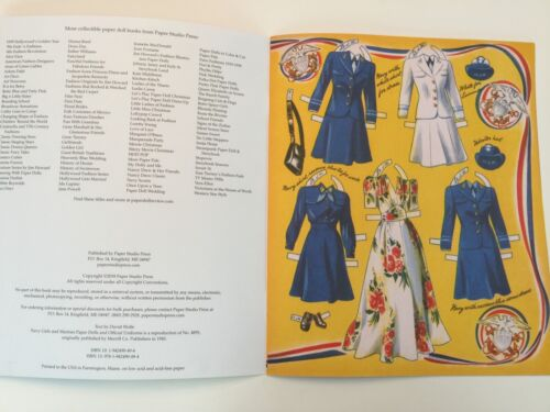 *NEW!* NAVY GIRLS AND MARINES Paper Dolls 1940s fashions and military uniforms