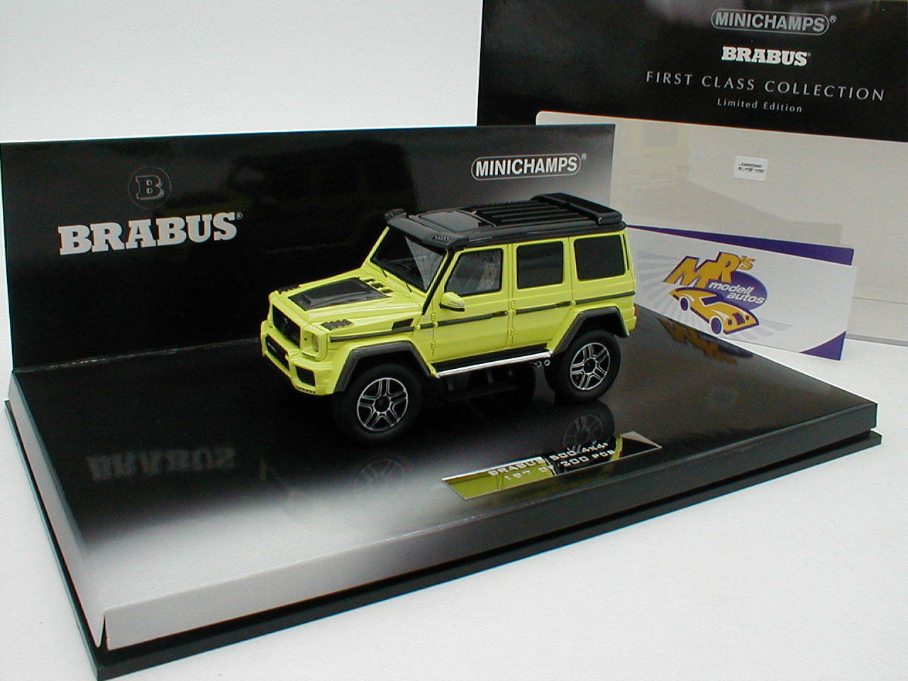 Minichamps 437032464-Mercedes Brabus 500 4x4 year 2016  Yellow-Green  1 43