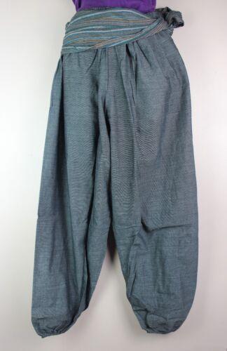 Vintage UNISEX Trousers Hippie Wide leg Harem Festival Pants Aladdin Yoga S25