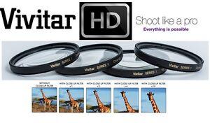 1 2 4 10 4Pc Vivitar Close Up Macro Lens Set For Canon Vixia HF G30 G40