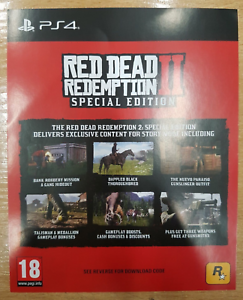 DLC - Red Dead Redemption 2 Special Edition DLC ONLY PS4 SUPER SPEEDY NO GAME UK