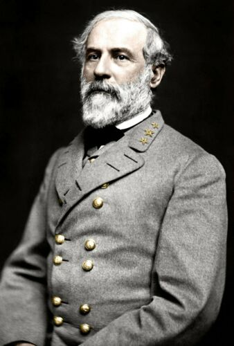 Lee Giclee Canvas Print Portrait of Confederate General Robert E