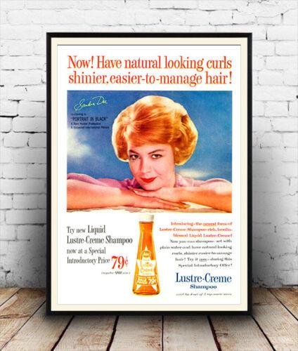 Reproduction. poster Lustre creme : Vintage hair magazine advert Wall art
