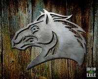 Angry Stallion Horse Head Equine Decor Metal Wall Art Vintage Sign Rustic Usa