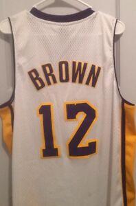 b8fd64630 Shannon Brown Los Angeles Lakers NBA Jersey Men L Adidas Sewn  12 ...