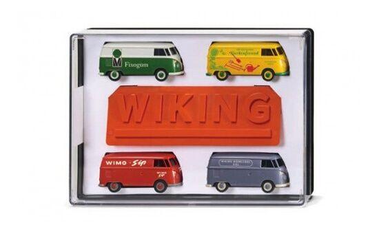 217001 - Wiking boîte cadeau-vw t1 Camionnette avec bouclier - 1 87