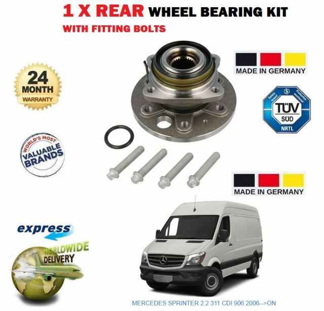 REAR WHEEL BEARING HUB ASSEMBLY WITH ABS FOR MERCEDES SPRINTER 903 906 2006-ON