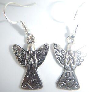 Tibetan Silver Peacock On Sterling Silver Hooks Earrings Organza Gift Bag Proud