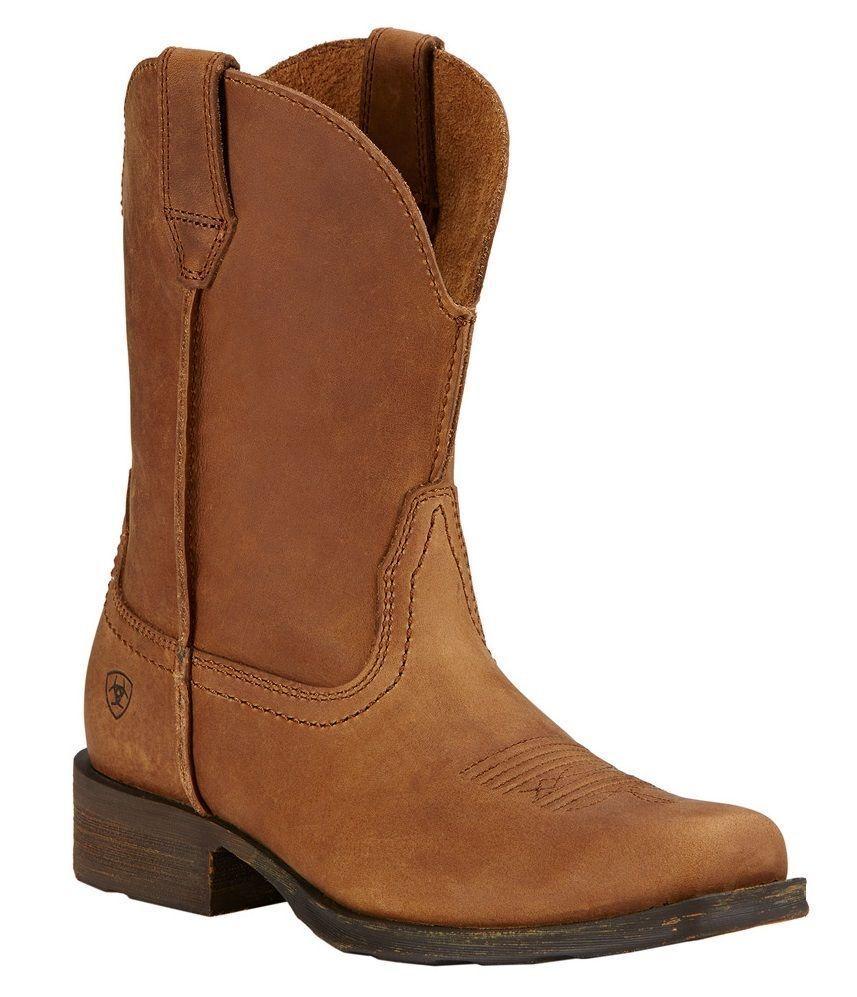 Ariat Women's Rambler Leather Cowboy Western Boots Duster Brown 10017326 NIB!