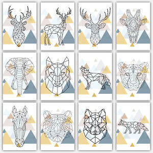 Art-PRINT-GEOMETRIC-Low-poly-ANIMAL-collection-SCANDINAVIAN-Poster-Wall-3-for-2