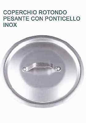 COPERCHIO rotondo acciaio inox Ø cm 16 con Manico Professionale Pentole Agnelli