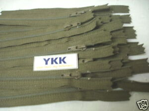 """25 D 5 1//2/"""" #3 Nylon Coil~Closed~Chestnut 900~YKK"""