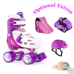 SFR-Storm-II-Adjustable-Quad-Roller-Boots-Skates-Girls-Plus-Optional-Extras