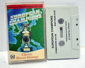 EUROPEAN-CHAMPIONS-CHALLENGE-SOFTWARE-COMMODORE-64-BUONO-STATO-UK-FR1-65527