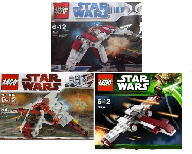 3x LEGO Star Wars   The Clone Wars Jäger 30240 30050 8031 im Polybeutel
