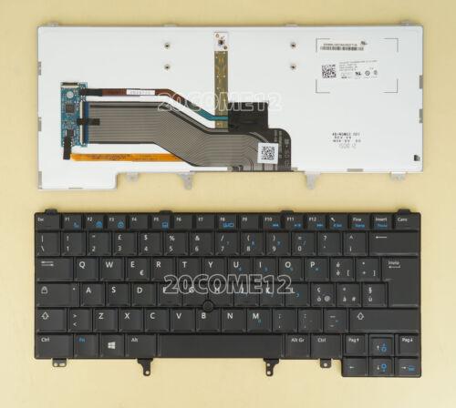 For Dell Latitude E5420M E6430S xt3 E6440 Keyboard Backlit Italian Tastiera blue