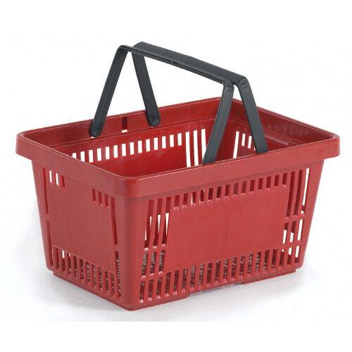 Plastic shopping basket for Supermarket-Red