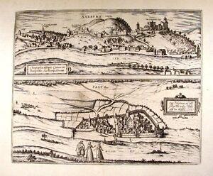 Antique-map-Cuitatis-Sarburgensis-Pfaltz-auff-der-Musell