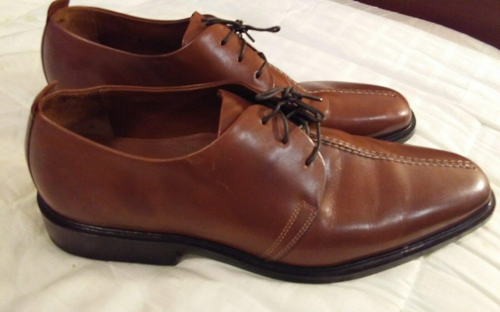 Men Brown Leather Cole Haan  Oxfords 11.5 M