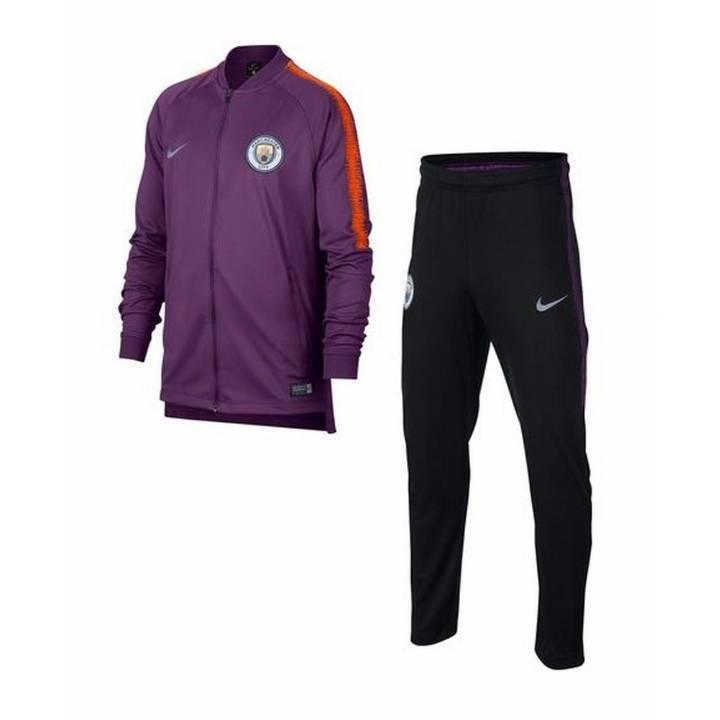 Nike Manchester City Squad Chándal Tejido De Entrenamiento 2018 19 - Púrpura-Kids