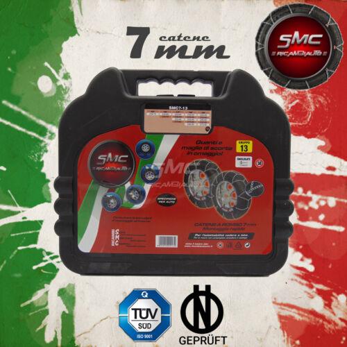 CATENE DA NEVE OMOLOGATE SMC 7mm PER GOMME 245 40 R 19 GRUPPO 130