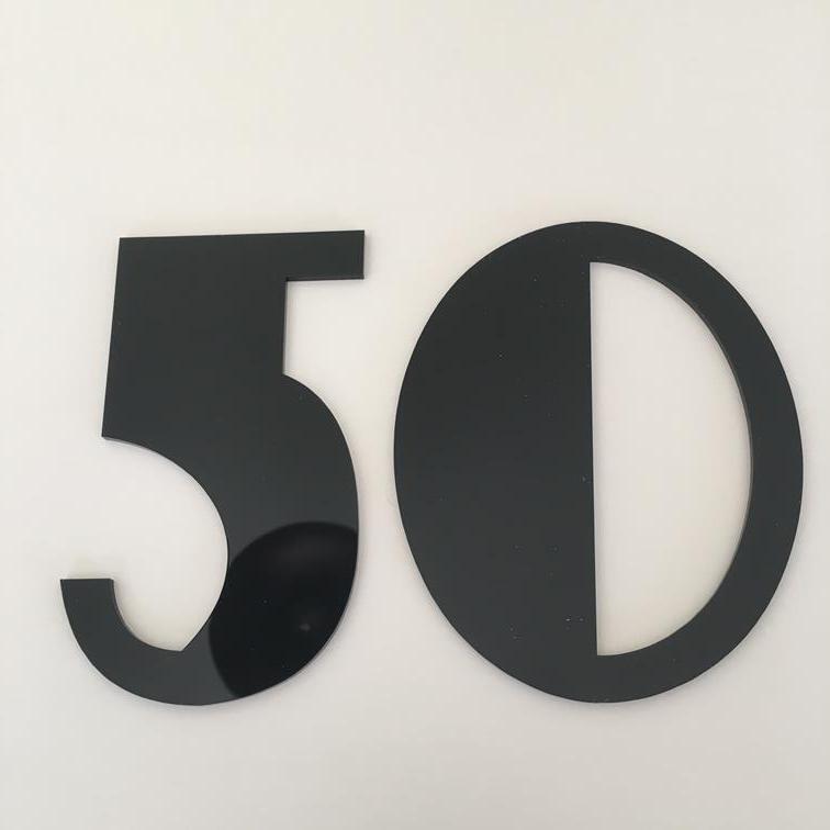 Brillo Negro, acabado plano, número de casa-Art Deco Font Font Font (anuncio es para 1 no) 30fd18
