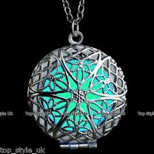 Aqua Glow in the Dark Cirlce Sun Necklace Christmas Xmas Birthday Valentine Gift