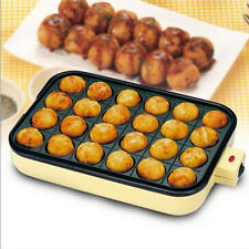24 Holes Takoyaki Grill Pan Plate Cooking Baking Mold Octopus Ball Maker Kitchen