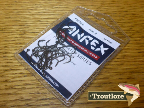 24 x AHREX FW550 #8 FRESHWATER JIG HOOKS NEW FLY TYING MATERIALS