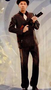 New-2-Pcs-Man-Gangster-suit-Halloween-costume-cosplay-party-sz-XXL-xmas
