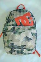 Mens Womens Dc Shoe Green Tan Orange Backpack School Book Bag Surf $48