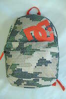 Mens Womens Dc Shoe Green Tan Orange Backpack School Book Bag Surf $48