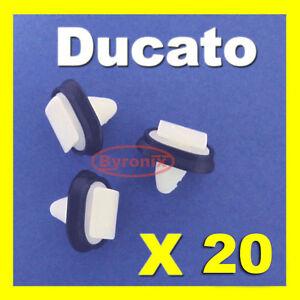 20-x-FIAT-isole-Ducie-e-Oeno-side-trim-Stampaggio-Plastica-Clip-esterno-striscia-di-cancellatura