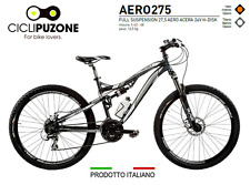"BICICLETTA BICI MTB MOUNTAIN BIKE FULL SUSPENSION 27,5"" - AERO275 DISK.IDRAULICO"