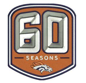 DENVER-BRONCOS-60TH-ANNIVERSARY-PATCH-1960-2019-SEASON-NFL-FOOTBALL-LIMITED-ED