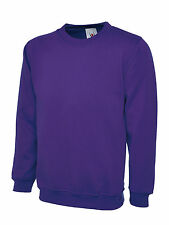 Unisex Crew Neck Men's Plain Sweatshirt Jersey Sweater Jumper Cardigan Top Lot