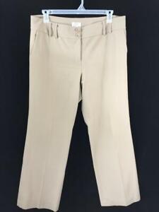 Ann-Taylor-womens-dress-pants-size-14-tan-38-x-32-stretch-career-4-pockets